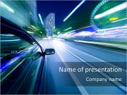 Driving At Night PowerPoint Templates