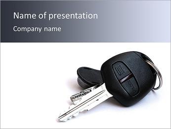 Clés de voiture Modèles des présentations  PowerPoint