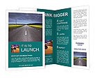 Road In Countryside Brochure Templates