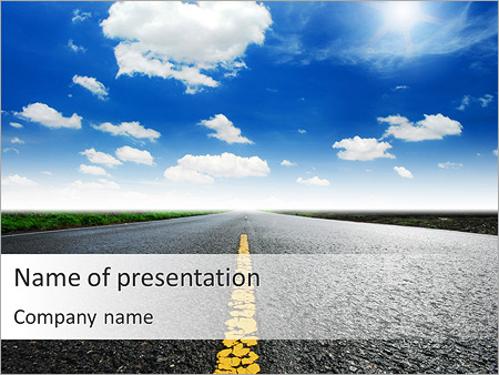 driving at good weather powerpoint template backgrounds google