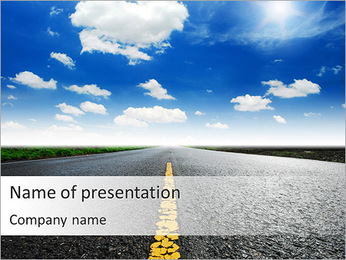 Driving At Good Weather PowerPoint Template
