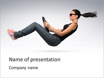 Woman's Drive PowerPoint Template