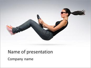 Drive womanâ € ™ Modèles des présentations  PowerPoint - Diapositives 1