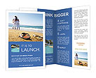 Couple At Beach Brochure Templates