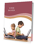 Children With Laptop Presentation Folder