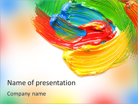 Colors For Painting PowerPoint Template