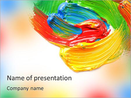 Colores para la pintura Plantillas de Presentaciones PowerPoint