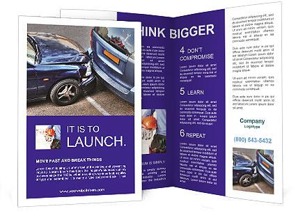 car crash brochure template