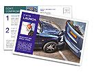 Car Crash Postcard Template
