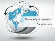 Conexión Social Mundial Plantillas de Presentaciones PowerPoint