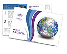 Global Communication Postcard Template