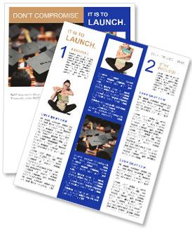 university graduation newsletter template design id 0000004784