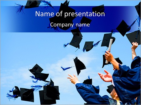 happy graduation powerpoint template & backgrounds id 0000004787, Modern powerpoint