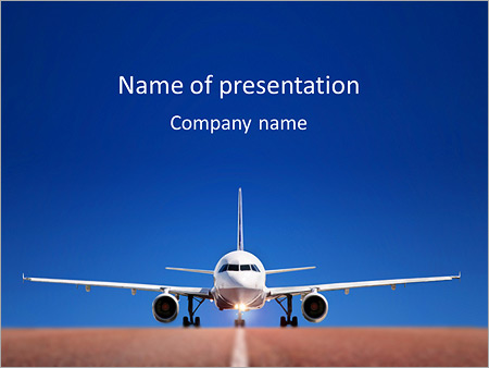 travelplane powerpoint template & backgrounds id 0000004792, Modern powerpoint