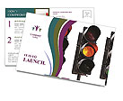 Traffic Lights Postcard Templates