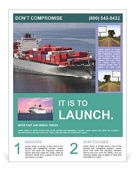 shipping flyer template design id 0000004796. Black Bedroom Furniture Sets. Home Design Ideas