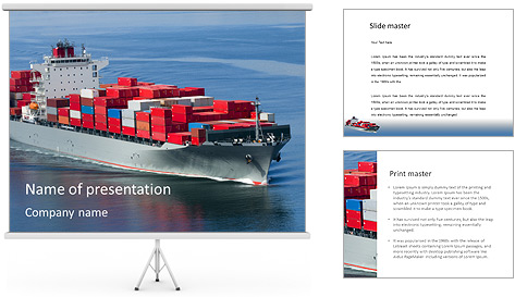 Shipping PowerPoint Template Backgrounds ID 0000004796 – Shipping Templates