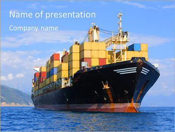 Shipping Goods PowerPoint Template