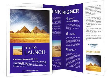 pyramids in egypt brochure template - Egypt Brochure Templates