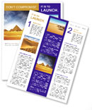 Pyramids In Egypt Newsletter Template