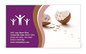Emerge From Egg Business Card Template