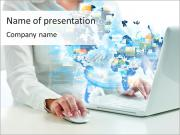 Internet Media Sjablonen PowerPoint presentaties