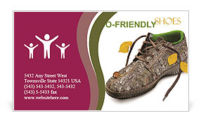 Shoes made of natural materials Business Card Template