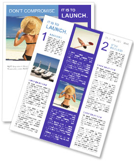 perfect summer vacation newsletter template design id 0000004821