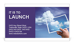 Sky Photo Business Card Template