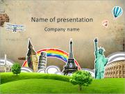 Travel Round The World PowerPoint Templates