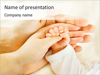 Cute Baby's Hand PowerPoint Template