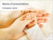 Cute Baby's Hand PowerPoint Templates