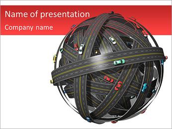Système routier Modèles des présentations  PowerPoint
