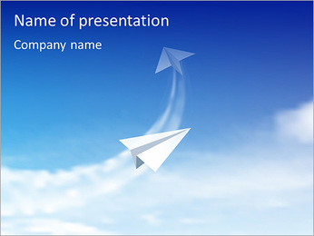 Paper Plane In Sky PowerPoint Template