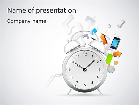 Clock Powerpoint Template  BesikEightyCo