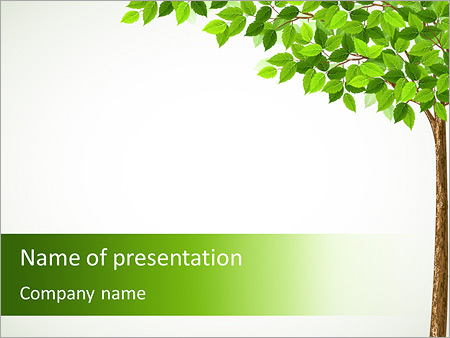 tree drawing powerpoint template amp backgrounds id