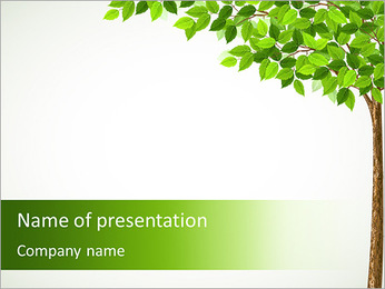 Tree Drawing PowerPoint Template