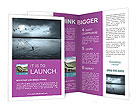 Lake At Night Brochure Templates