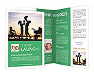 Family With Children Brochure Templates
