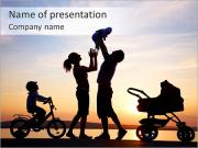 Family With Children PowerPoint Templates