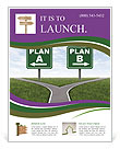 Plan A And B Flyer Template