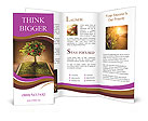 Fruit Tree In Book Brochure Templates