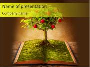 Fruit Tree In Book PowerPoint Templates