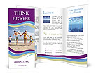 Family At Beach Brochure Templates