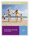 Family At Beach Word Templates