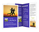 Couple Jogging Brochure Templates