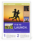 Couple Jogging Flyer Template