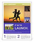 Couple Jogging Flyer Template