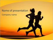 Couple Jogging PowerPoint Templates