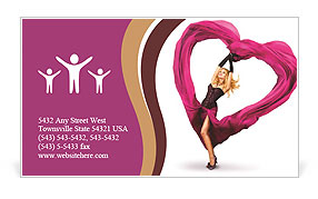 Impassioned Dance Business Card Template